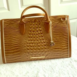 Brahmin Leather Weekender Brand New